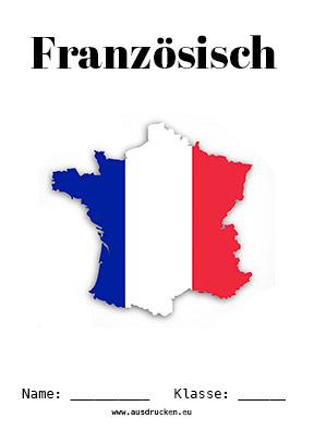 Französisch Deckblatt Flagge