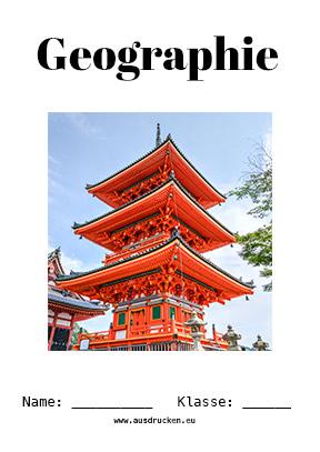 Geographie Deckblatt Asien