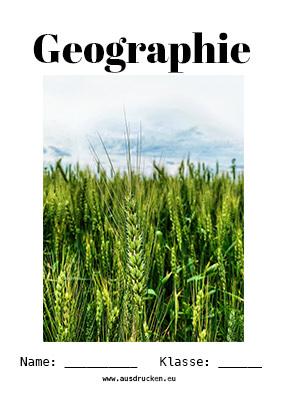 Geographie Deckblatt Landwirtschaft