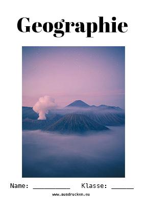 Geographie Deckblatt Vulkane