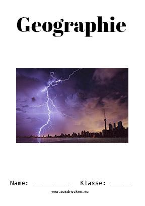 Geographie Deckblatt Wetter