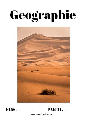 Geographie Deckblatt Wüste