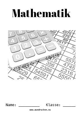 Mathe Deckblatt Zahlen