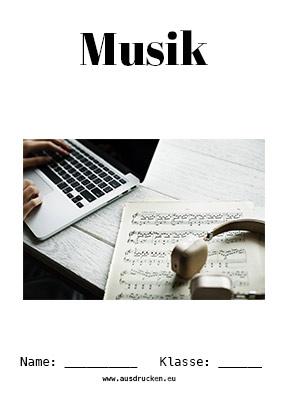 Musik Deckblatt Komponisten