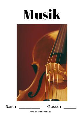 Musik Deckblatt Musikinstrumente