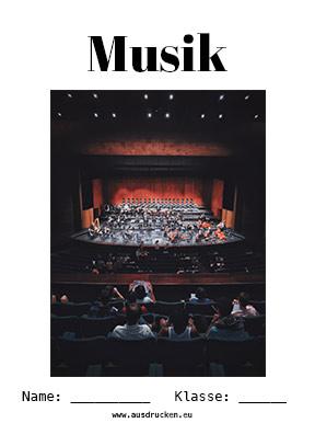 Musik Deckblatt Orchester