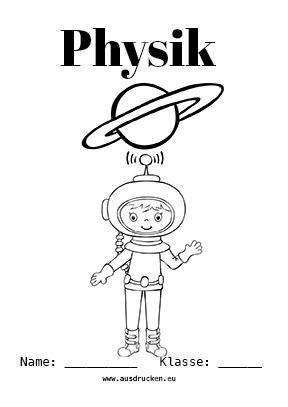 Physik Deckblatt Astronomie
