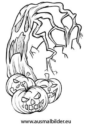 Ausmalbilder Halloween Furchteinfl 246 Ssende Gestalten