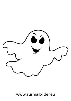 Komischer Geist Halloween Ausdrucken
