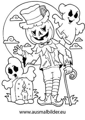 Schauriges Trio Halloween Ausdrucken