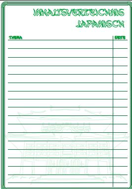 inhaltsverzeichnis japanisch inhaltsverzeichnisse ausdrucken. Black Bedroom Furniture Sets. Home Design Ideas