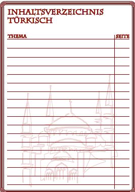 Inhaltsverzeichnis für Türkisch