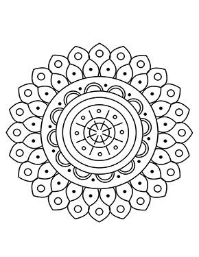 Blumen Mandala Malvorlage zum ausdrucken
