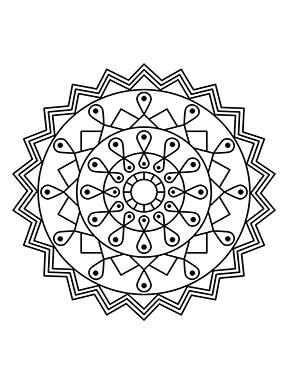 Blumen Mandala für Kinder zum ausdrucken