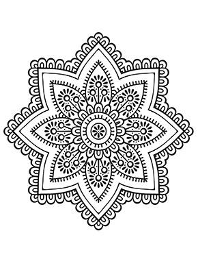 Mandala Blume zum ausdrucken