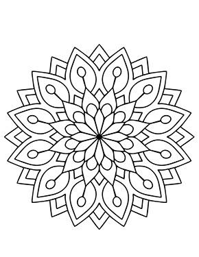 Mandala Blumen Bilder zum ausdrucken