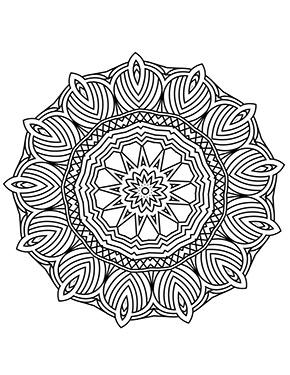 Mandala Blumen Erwachsene zum ausdrucken