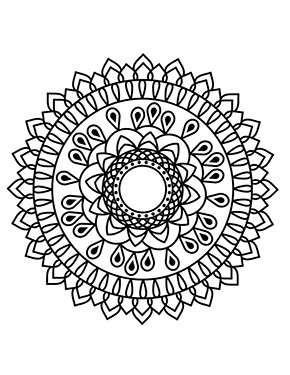 Mandala Blumen Vorlage zum ausdrucken