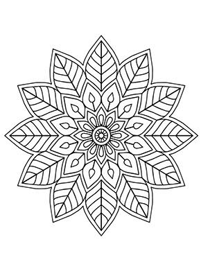 Mandala Blumen bunt zum ausdrucken