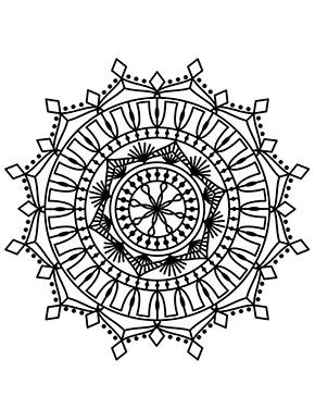 Mandala Blumen für Erwachsene zum ausdrucken