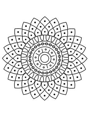 Mandala Blumenmuster zum ausdrucken