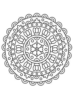 Mandala mit Blume zum ausdrucken