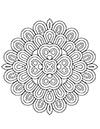 Blumen Mandala Ausmalbild zum ausdrucken