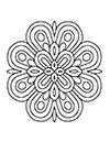 Blumen Mandala einfach zum ausdrucken
