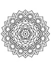 Blumen Mandala zum ausdrucken