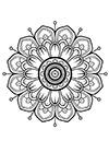 Blumenmuster Mandala zum ausdrucken