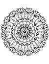 Malvorlage Mandala Blumen zum ausdrucken