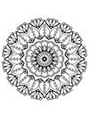 Mandala Ausmalbild Blumen zum ausdrucken