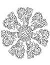 Mandala Blüte zum ausdrucken