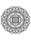 Mandala Blumen Muster zum ausdrucken