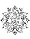 Mandala Blumen zum ausdrucken