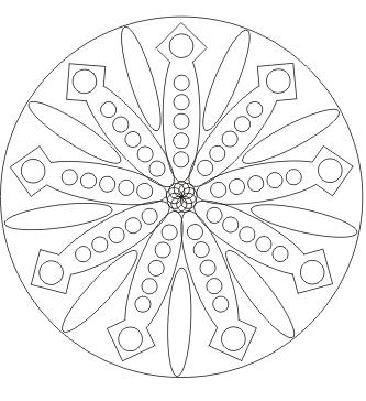 Ausmalbild Mandala zum ausdrucken