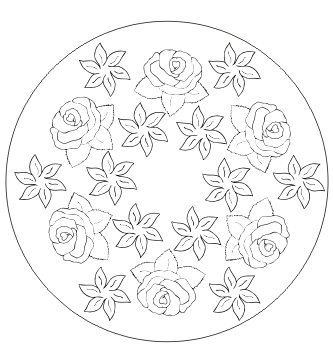 Blumen Mandala Ausdrucken