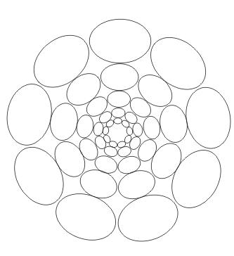 Elipsen Mandala zum ausdrucken
