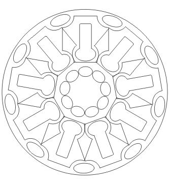 Formen Mandala zum ausdrucken