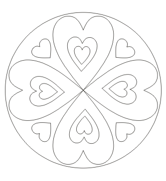 Herz Mandala zum ausdrucken
