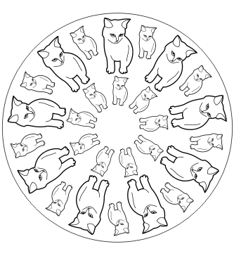 Cats in AxiPIX: katzen mandala