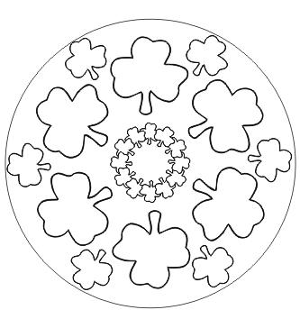 Kleeblatt Mandala zum ausdrucken