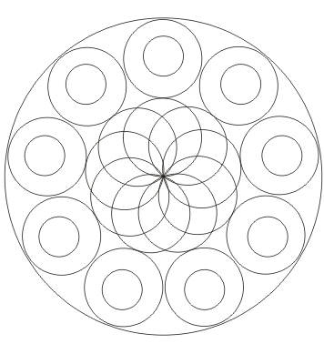 Kreis Mandala  zum ausdrucken