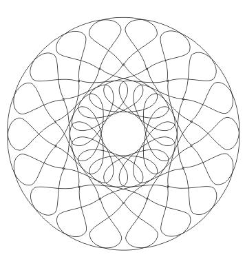 Linien Mandala zum ausdrucken