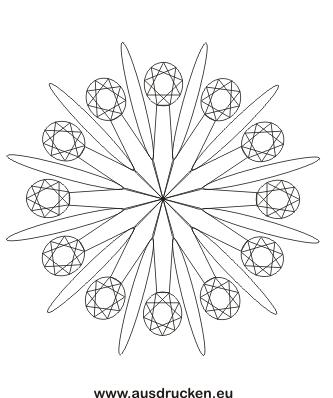 Malvorlage Mandala zum ausdrucken