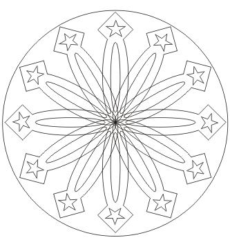 Mandala Druckvorlage zum ausdrucken