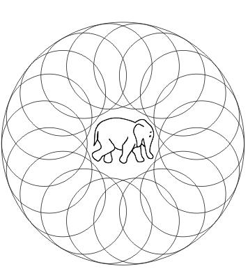 Mandala Elefant zum ausdrucken