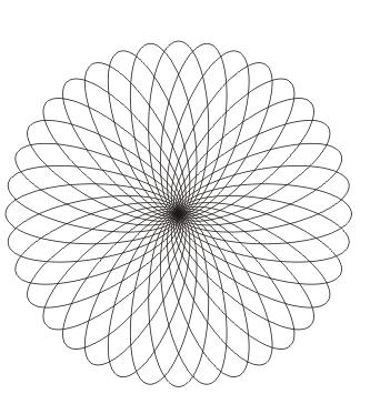 Mandala Elipse zum ausdrucken