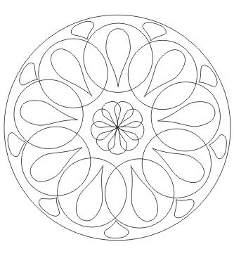 Mandala Kreise Tropfen zum ausdrucken