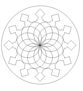 Mandala Malvorlage zum ausdrucken